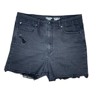Denizen by LEVI's Super High Waist Black shorts